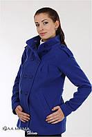 """Полупальто для беременных """"Mirta"""" из стрейчевого кашемира с круглой кокеткой, синий электрик, размер S, фото 1"""