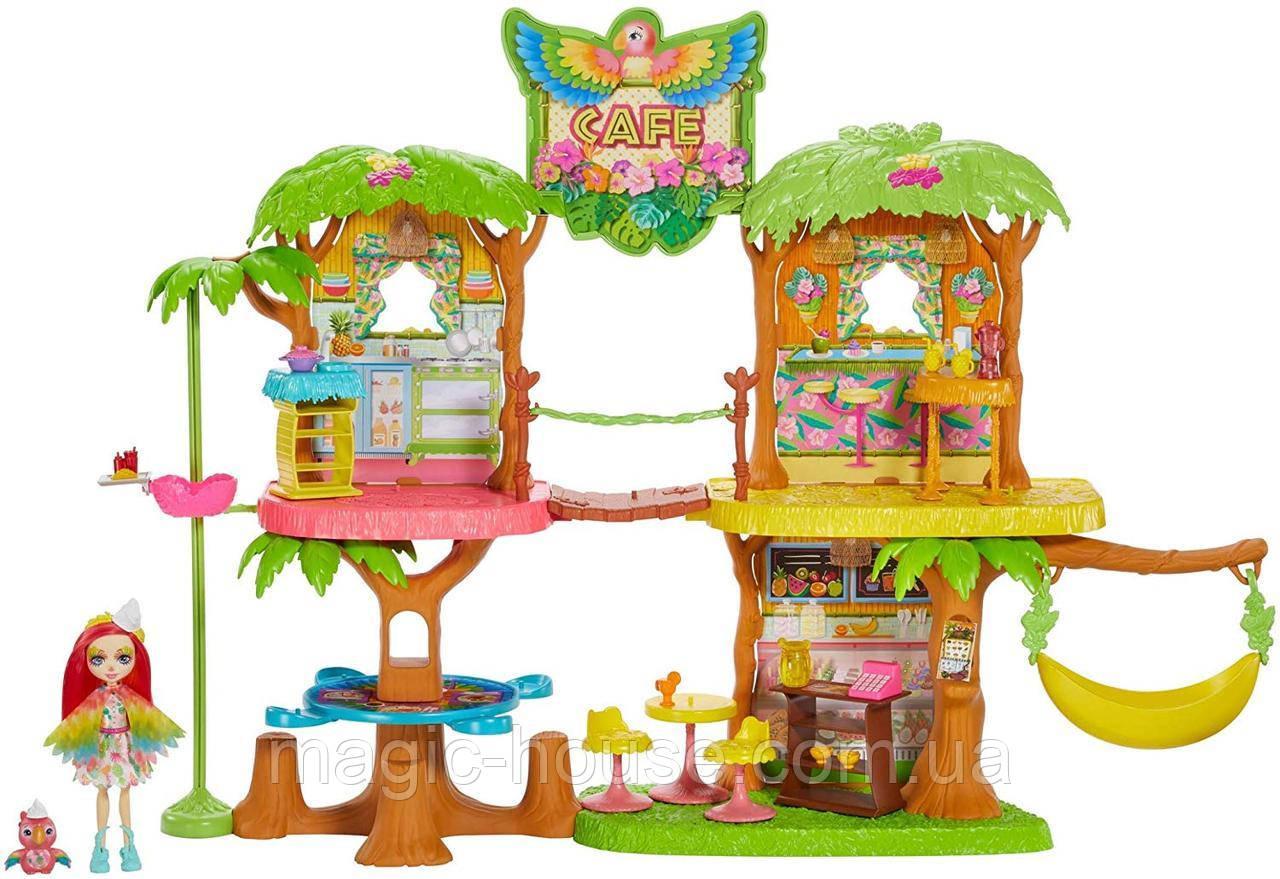 Игровой набор Энчантималс кафе в джунглях и попугайчик ПиккиEnchantimals Junglewood Cafe