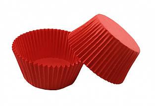 Тарталетки (капсулы) бумажные для кексов, капкейков красные №2