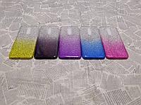 Блестящий силиконовый чехол накладка Градиент для Xiaomi (Ксиоми) Redmi 8