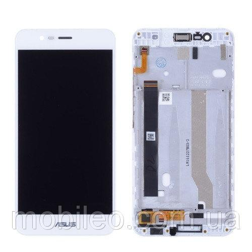 Дисплей (LCD) Asus ZenFone 3 Max | ZC520TL с тачскрином и рамкой, белый