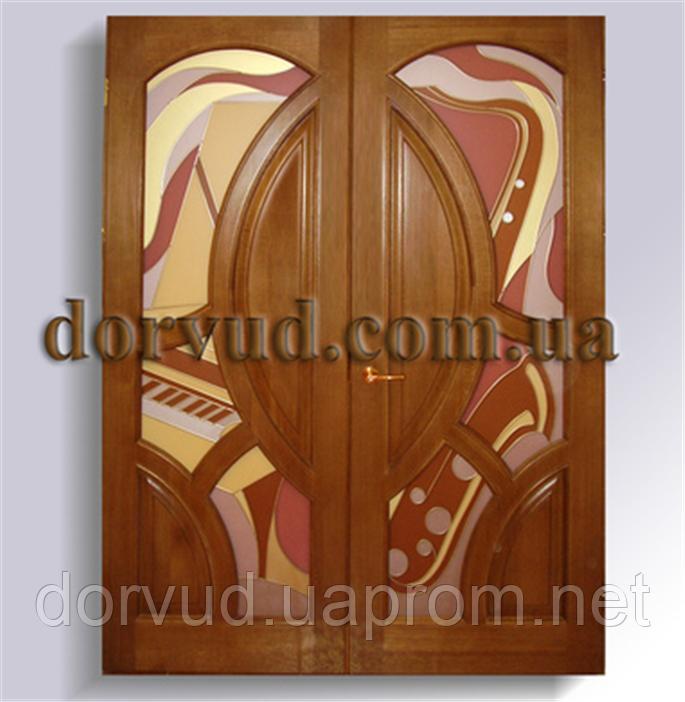 Двухстворчатые межкомнатные двери в дом (квартиру) Д 02