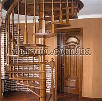 Лестница винтовая деревянная для дома Л 19