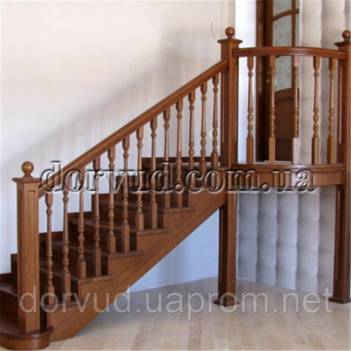Лестница деревянная для дачи, дома Л 9