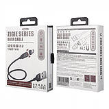 USB кабель Remax Zigie Lightning RC-102i Black (Код: 9003434), фото 2