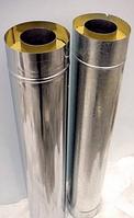 Труба дымоходная сэндвич 1 м ф120х180 мм нерж./нерж.
