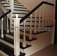 Лестница для дома деревянная по бетонному основанию Л 13