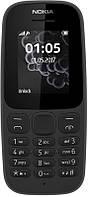 """Мобильный телефон Nokia 105 New 2017 Single Sim Black; 1.8"""" (160x128) TN / клавиатурный моноблок / ОЗУ 4 МБ / 4 МБ встроенной / без камеры / 2G (GSM)"""