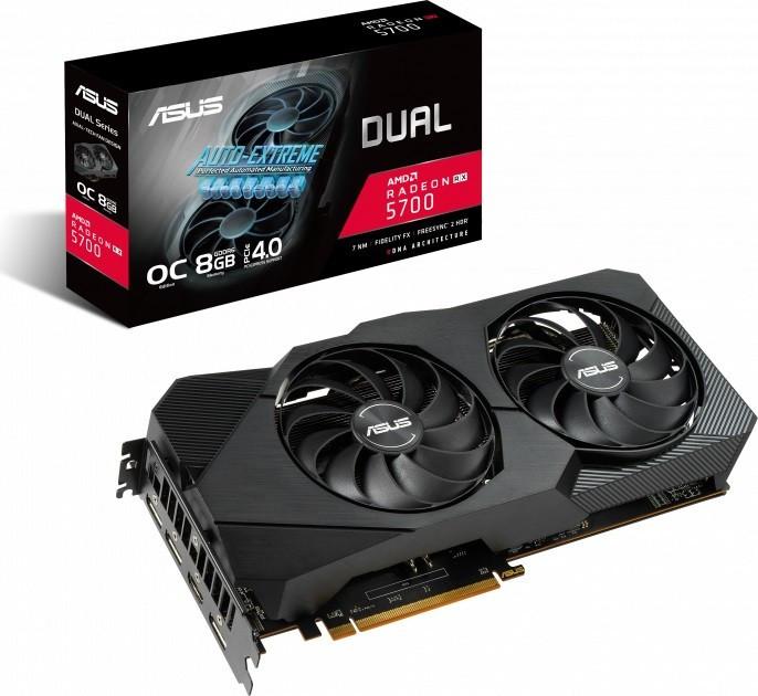 Видеокарта AMD Radeon RX 5700 8GB GDDR6 Dual Evo OC Asus (DUAL-RX5700-O8G-EVO)