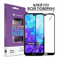 Защитное стекло MakeFuture для Huawei Y5 2019 Black Full Glue, 0.33 mm (MGF-HUY519)