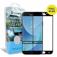 Защитное стекло MakeFuture для Samsung Galaxy J7 (2017) SM-J730 Black Full Glue, 0.33 mm, 2.5D (MGFCFG-SJ730B)