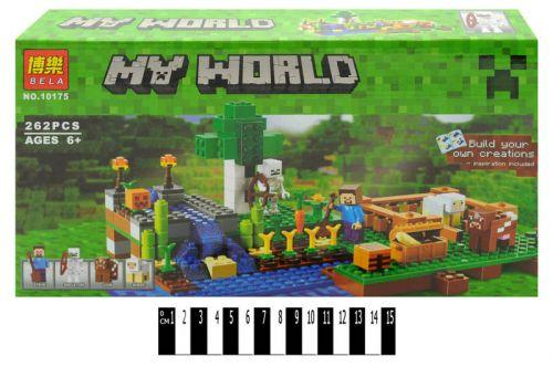 "Конструктор ""My World Minecraft: ферма и огород"", 262 дет 10175"