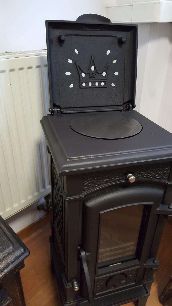 Чугунная печь-камин Eleni 9kW черная