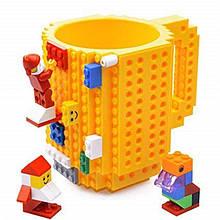 Чашка-конструктор Unique Minecraft 350 мл Желтая (legocup_yellow)