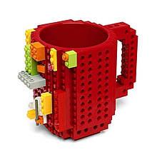 Чашка-конструктор Unique Minecraft 350 мл Красная (legocup_red)