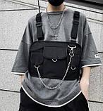 Бронежилет HGUL+BAG нагрудная сумка 0004 черная, фото 4