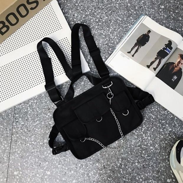 Бронежилет HGUL+BAG нагрудная сумка 0004 черная