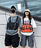 Бронежилет HGUL+BAG нагрудная сумка 0004 черная, фото 7