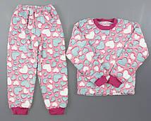 {есть:34,38} Махровая пижама для девочек,  Артикул: 12-459-2