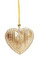Набор (3шт) новогодних украшений-подвесок 9см, цвет - золото (785-521)