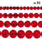 Бусины Стеклянные Жемчуг 10 мм. Цвет: Кармин Красный, Перламутровые тон 51; около 85 шт/нить Рукоделие, фото 5