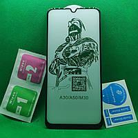 Samsung M30s \ M307 Изогнутое 5D защитное стекло Черный