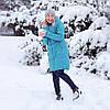 Зимняя Куртка для беременных 2 в 1 Бирюза Сиреневая Темно-синяя Love & Carry Пальто  (Размер XS)
