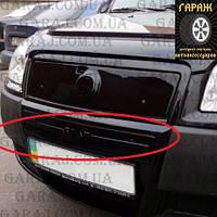 """Зимняя накладка Fiat Doblo 2006-2011 Средняя Черный мат """"FLY"""""""