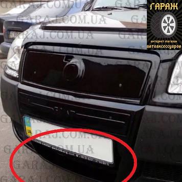 """Зимняя накладка Fiat Doblo 2006-2011 Черный мат Низ """"FLY"""""""
