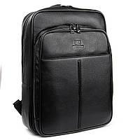 Большой классический кожаный рюкзак для мужчин черного цвета BRETTON 39*30*15 см(17литров), BRETTON BP 8003-78
