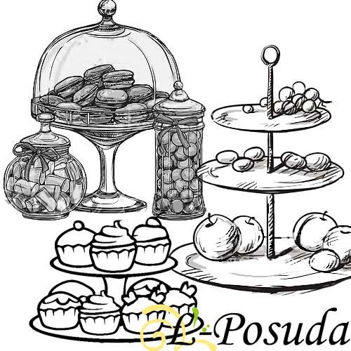 🎂 Тортовницы, Фруктовницы, конфетницы