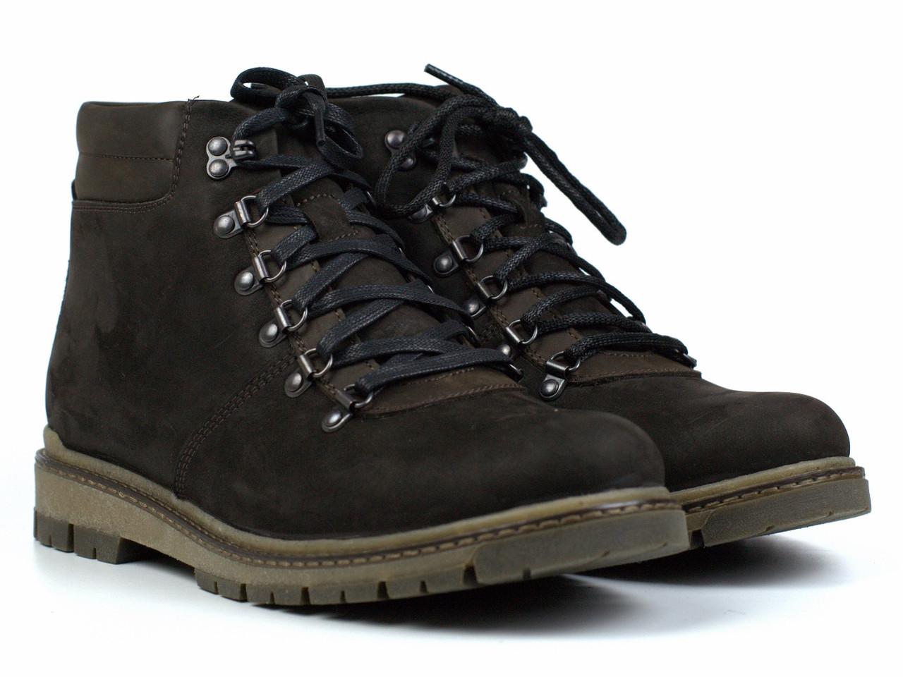 Большой размер зимние ботинки хайкеры мужские замшевые на меху Rosso Avangard Rangers Crystal Rangers Brown BS