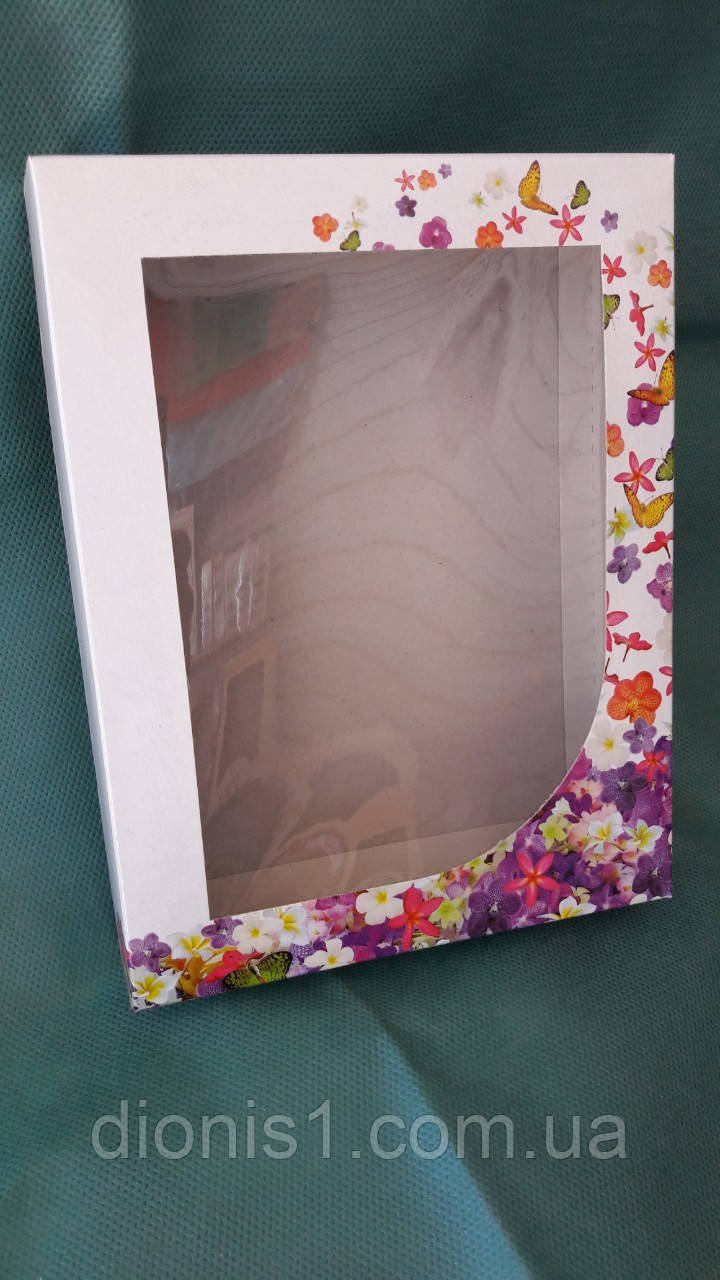 Коробка для кухонных полотенец Бабочки картон 215х165х40