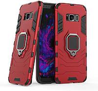 Чохол Iron Ring для Samsung Galaxy S8 броньований бампер Броня Red