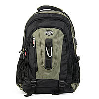 Нейлоновый крепкий рюкзак для туризма и города мужской POWER IN EAVAS 50*35*25 см (43литра), 8215 green