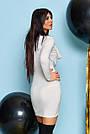 Белое вечернее платье женское трикотаж с люрексом, фото 2