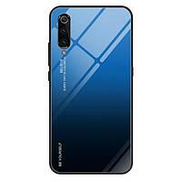 Чехол Gradient для Xiaomi Mi 9 SE бампер накладка Blue-Black, фото 1