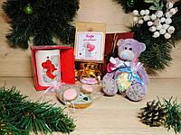 """Новогодний подарочный набор для любимой  """"Christmas Teddy Love"""" с именным поздравительным письмом"""