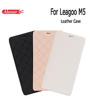 """Оригинальный боковой чехол-книжка для Leagoo M5 на 5,0"""" / Стекла в наличии /"""