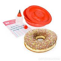Форма силиконовая для выпечки пончиков Giant doughnut maker (S05047)