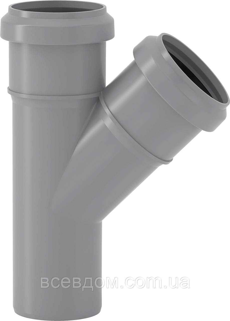 HTEA тройник Valsir внутренней канализации 50/50х67°