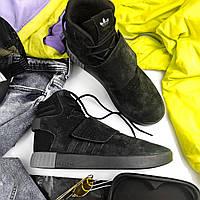 Мужские зимние кроссовки Adidas Tubular Invader Strap Black