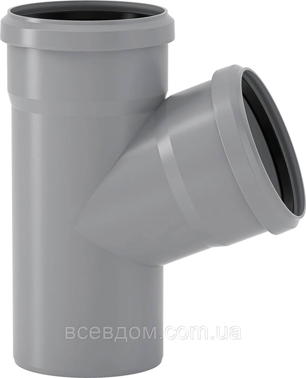 HTEA тройник Valsir внутренней канализации 110/110х67°