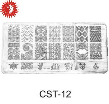 Трафарет для стемпинга Christian диск CST-12