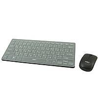 Беспроводная мини клавиатура UKC  + мышь ЧЕРНАЯ (S05083)