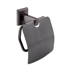 Держатель для туалетной бумаги с крышкой черный матовый цвет GF Italy (BLB)/S-2603