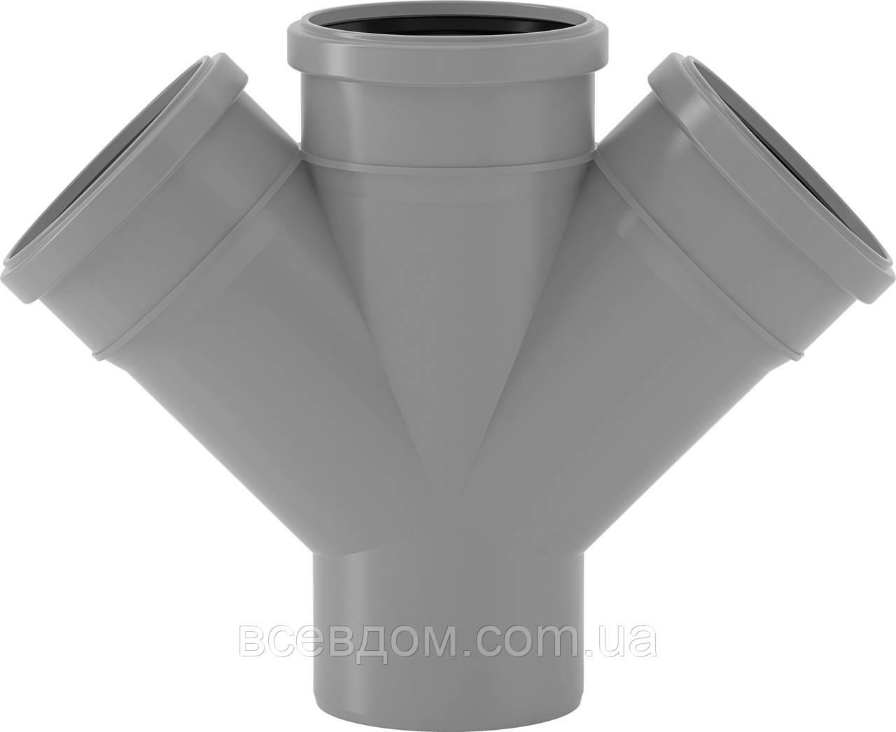 HDTA крестовина Valsir внутренней канализации 110/50/50х45°