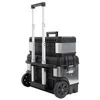 Ящик инструментальный с колесами 65*64*39 металлический STANLEY 1-95-832