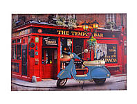 3D картина Мопед синий с Led подсветкой - 208458