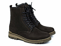 Большой размер зимние ботинки мужские берцы замшевые на меху коричневые Rosso Avangard Doks Brown Diamond BS, фото 1
